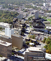 Aerial view of Peachtree Road